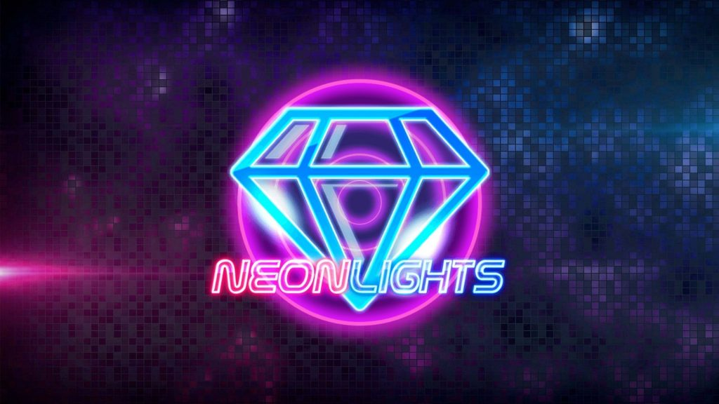 Neon lights cover casino slot