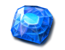 Blue Fortune stone symbol in video slot GJG