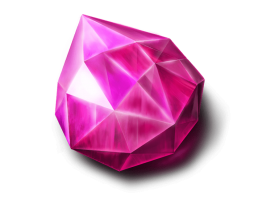 Pink fortune stone video slot symbol