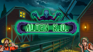 Game page alien KO banner Green jade games